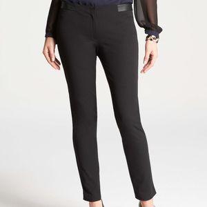 Ann Taylor Downtown Leather Trim Ankle Pants A